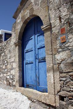 Blue door - Rhodes