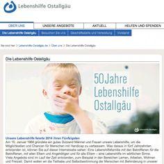 Entwicklung Website für Lebenshilfe Kaufbeuren/Ostallgäu | Jasten, Büro für Gestaltung und Kommunikation | Markenentwicklung und Verpackungsdesign aus Irsee im Allgäu
