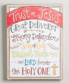 Trust in Jesus Wrapped Canvas | zulily