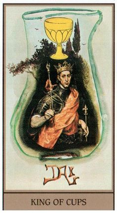King of Cups - Dali Universal Tarot by Juan Llarch, Salvador Dali