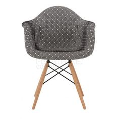 Replica Eames Chair   Upholstered Black And White Pattern