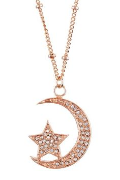 Moon & Star Pendant Necklace by To Me From Me: Jewelry Event on @HauteLook... Hmm.. this is interesting to see :)