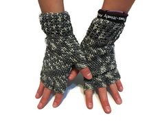 50 Shades of Gray Half Finger Fingerless Texting or Driving Gloves…