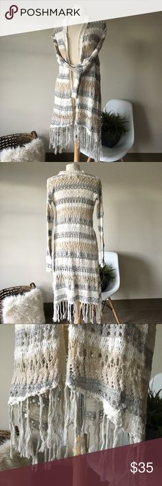 long cardigan crochet knit duster excellent condition! details to come.. Aeropostale Sweaters Cardigans