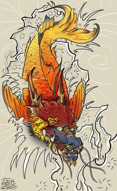 Visit the webpage to read more about dragon koi fish tattoo designs - Tend not - Tattoo MAG Koi Fish Tattoo Forearm, Koi Dragon Tattoo, Koi Tattoo Sleeve, Dragon Tattoo Designs, Koi Tattoo Design, Japan Tattoo Design, Japanese Tattoo Koi, Dragon Koi Fish, Asian Tattoos