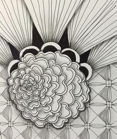 """Mumsy Morf tile by Carolyn Russell, CZT: Tickled To Tangle: """"It's a String Thing"""" Zentangle Patterns, Zentangles, Coaster Art, Doodle Art, Tangled, Coloring Pages, Tiles, Doodles, Pencil Drawings"""