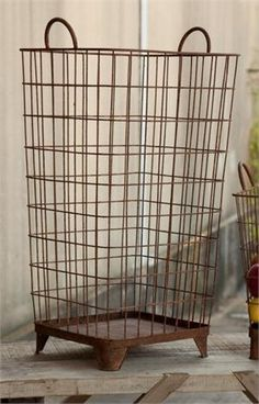 Rustic Wire Basket A