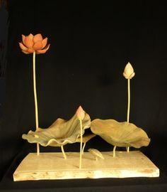 彫刻「蓮」
