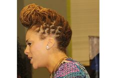 Braided forward with rolled bangs....