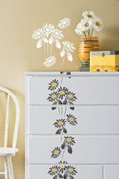 91a01c8561 Floral Dresser Painted Furniture