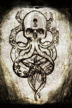 Polvo Octopus Tattoos, Bird Skull Tattoo, Pirate Skull Tattoos, Tatoo, Epic Tattoo, Badass Tattoos, Wicked Tattoos, Sternum Tattoo, Future Tattoos