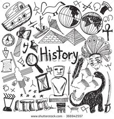 History education subject handwriting doodle icon of landmark location culture s., EDUCATİON, History education subject handwriting doodle icon of landmark location culture sign and symbol white isolated background paper used for presentation t. History Icon, History Education, Art History, Design History, Teaching History, Doodle Icon, Doodle Art, Doodle Sketch, Kalender Design