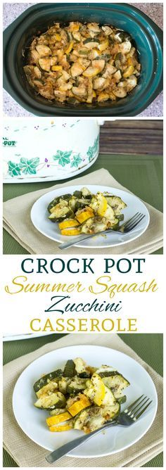Have an abundance of summer squash in the garden? Try this deliciously seasoned low carb crock pot zucchini and yellow squash casserole. A great side dish!