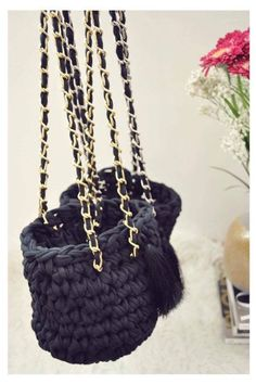 UNA bags in black - gold or silver handles  Instagram @una.creations Slow Fashion, Black Gold, Chanel, Shoulder Bag, Box, Unique, Check, Projects, Silver