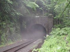 The Hoosac Tunnel, a railroad tunnel beneath the Berkshire Mountains in Western Massachusetts, is said to be one of the most haunted places in New England.  It was an engineering marvel of its age, completed in 1875, and nearly five miles in length.  Yet, it would cost 195 lives in various fires, explosions, and tunnel collapses, hence earning its name among the crew at the Bloody Pit.  It has since  been the scene of hauntings, and even murder.