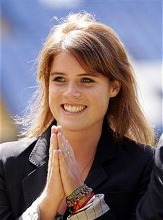 Princess Eugenie  daughter of Prince Andrew and Sarah Ferguson marriage together. Sister of Princess Beatrice