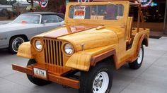 Wooden Jeep...made out of maple and cherry... and fully functional!