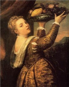 Girl with a Basket of Fruits (Lavinia) - Titian