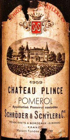 Chateau Plince  1959 e 1962  Cru Classé Pomerol.  Love these dusty old bottles of fabulous wine :-)