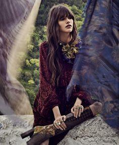 The New Bohemian: Vanessa Moody by Nathaniel Goldberg for Harper's Bazaar US August 2015