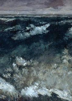 Gustave Courbet, The Wave (detail), proto-Impressionism at its best Art Français, Artist Art, French Paintings, Classic Paintings, Gustave Courbet, Creation Art, Sea Art, Realism Art, Famous Artists