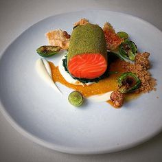 Starting tonight~Slow cooked ocean trout with grape and lemon myrtle, cauliflower, Brussel sprouts and sage burnt butter #delicious #batherspavilion #bathers #restaurant #newmenu #oceantrout #finedining