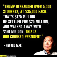 A fraudulent President. Well done America; well done.