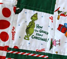 Gold Shoe Girl: Grinch Quilt