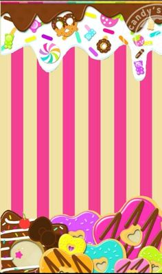 Cupcakes Wallpaper, Food Wallpaper, Wallpaper Backgrounds, Best Iphone Wallpapers, Cute Wallpapers, Printable Stickers, Printable Planner, Candy Background, Fb Cover Photos