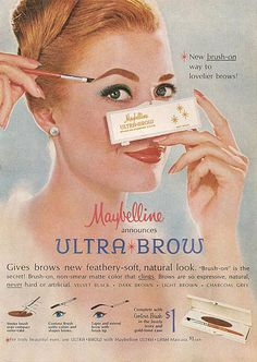 #Maybelline Ultra Brow Kit - very retro. Don't know if I should admit it, but this packaging is very similar to the one I used almost 30 years ago.
