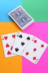 Seventeen: A Math-Builder Card Game.  Build stronger number sense.  Even though it says its for first grade, older students can benefit from this game too.
