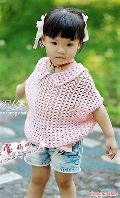 Розовое облачко. Ажурная кофточка для девочки.