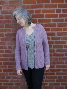 Knitting, crochet - all free patterns. Knit Cardigan Pattern, Kimono Pattern, Chunky Knit Cardigan, Sweater Knitting Patterns, Free Knitting, Waffle Stitch, Short Sleeve Cardigan, Cardigans For Women, Free Pattern