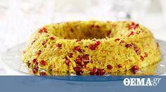 Ένα γιορτινό πιλάφια που θα συνοδεύσει άψογα τα κρεατικά που θα επιλέξετε για τα γιορτινά τραπέζια σας Bagel, Macaroni And Cheese, Rice, Bread, Cooking, Healthy, Ethnic Recipes, Desserts, Foods