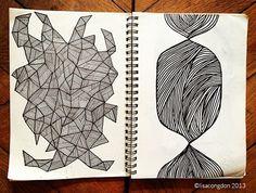 Illustration by Lisa Congdon Drawing Sketches, Drawings, Zen Doodle, Pattern Illustration, Painting Patterns, Zentangles, Art Sketchbook, White Ink, Moleskine