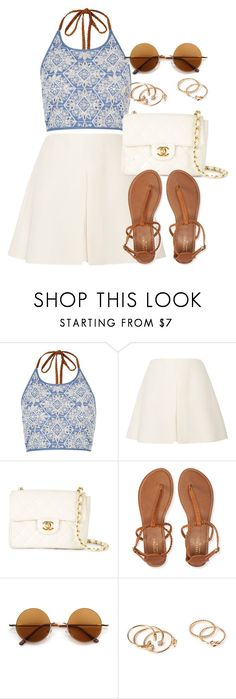 """""""Style #10795"""" by vany-alvarado ❤ liked on Polyvore featuring River Island, Valentino, Chanel, Aéropostale, Retrò and Forever 21"""