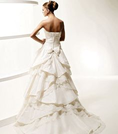 A-Line Tube Long Satin Wedding Dress