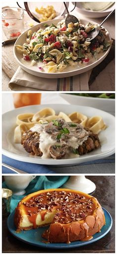 3-Course Meal Inspiration: Creamy Mediterranean Pasta Salad  | Salisbury Steak with Creamy Sauce  | Nila Praline Cheesecake