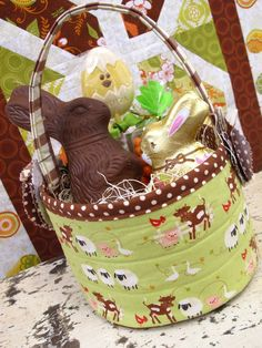 Quilted easter baskets fun pattern by nova flitter for the love dear easter bunny please bring me the pattern for this quilted easter basket thank negle Choice Image