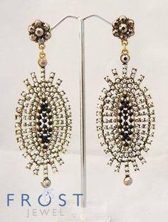 Starburst filigree earrings
