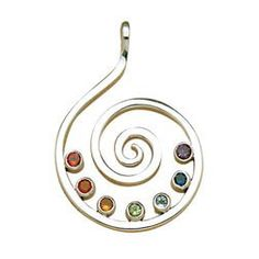 Amethyst Sterling Chakra Spiral Pendant by SoulsationalGatherin