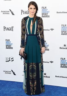 Nikki Reed in Etro at the 2016 Independent Spirit Awards
