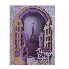 Build A Scene Shadow Box Die Parisian Street - Xcut from ...