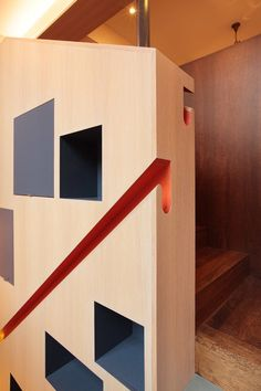 Contemporary Staircase by PLANT Architect Inc.  Very cool handrail...