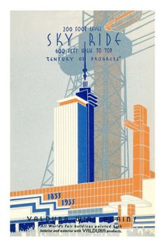 Art Deco style poster from the 1933 Chicago Century of Progress Fair.