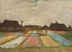 Flower Beds in Holland by Vincent van Gogh (Dutch, 1853 - 1890)