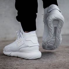 more photos b5463 51e37 Make an impression. The Y-3 Qasa High triple white is available on Y-3.com.  Image by  footstep.co  adidas  Y3  Qasa
