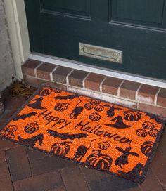 Cute Halloween Doormats.