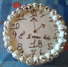 Torta orologio 18
