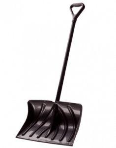 Suncast Snow Shovel/Pusher Combo with Wear Strip And D-Grip Handle Snow Sled, Shovel, Handle, Dustpan, Door Knob